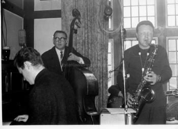 Jazz group performing in club