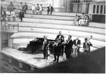 Jazz group performing