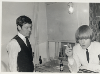 118  left Alan Clark (Hollies) right Brian Jones (stones)