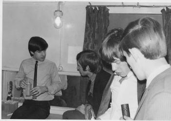 115 (L-R Unknown,  Charlie Watts, Mick Jagger and Laurie Stead)