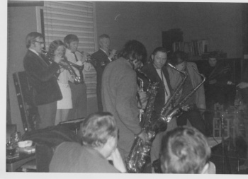 Jazz group performing in club (2)