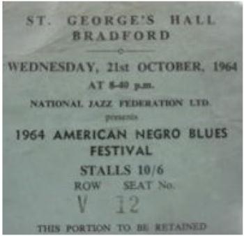 Ticket Bradford Blues 1964