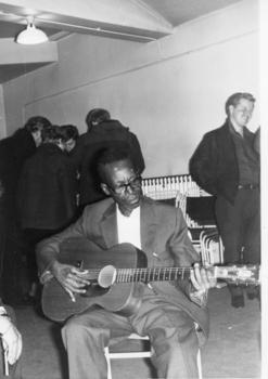 Blues guitarist (Sleepy John Estes?) Bradford Oct 1964